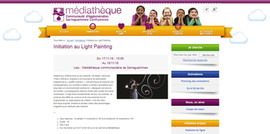 visuel atelier light painting Médiathèque de Sarreguemines