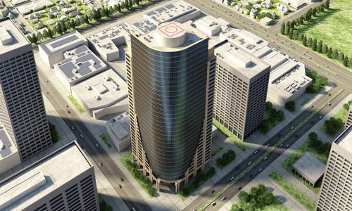 Skyscraper Exterior Building Render