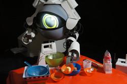 Robot Jupé Preparando platos