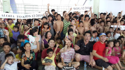 Kids excitement at waterpark Vietnam