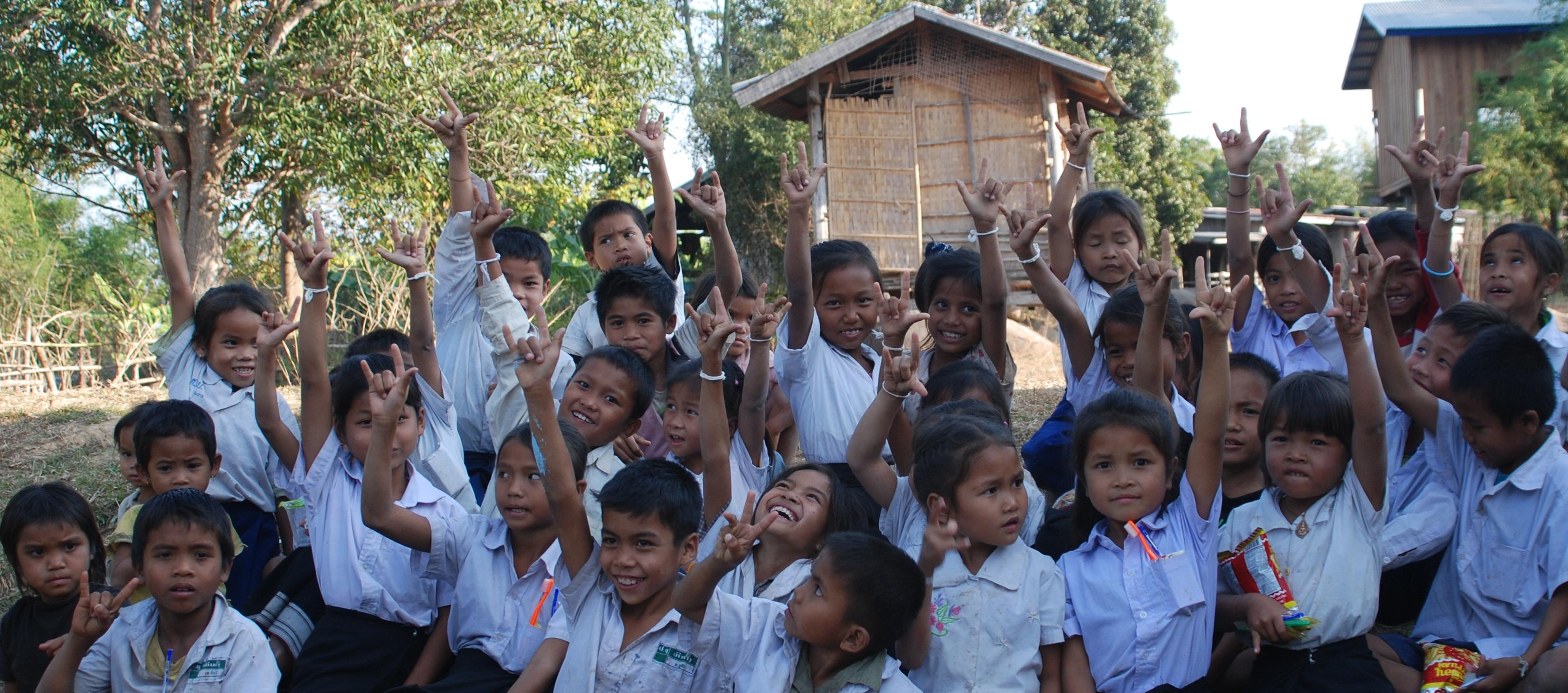 student's pure joyful smiles