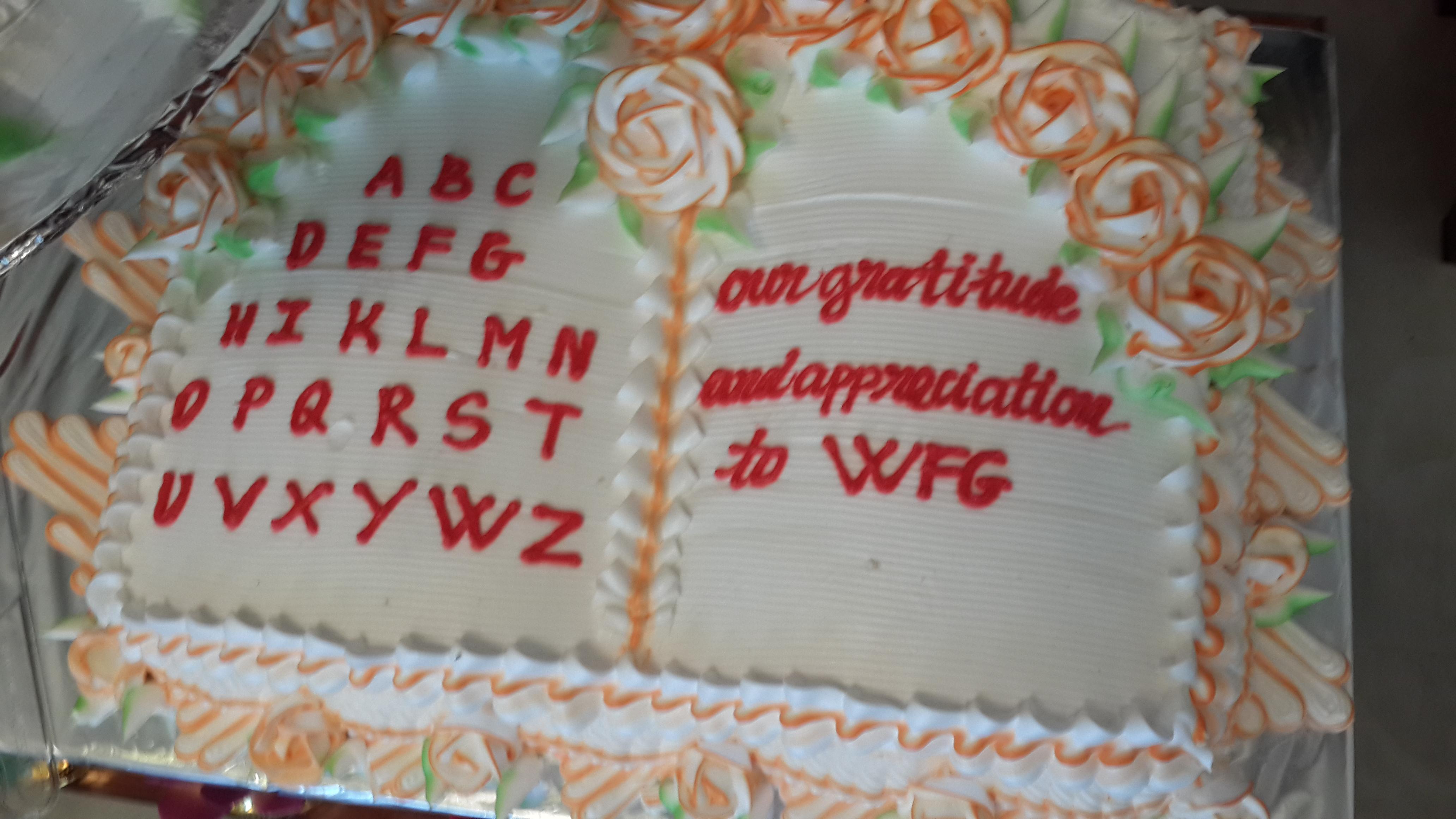 Symbolic cake of students' education