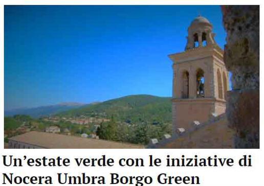 Un'estate verde con le iniziative di Nocera Umbra Borgo Green