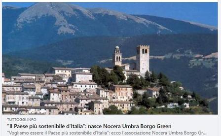 """""""Vogliamo essere il Paese più sostenibile d'Italia"""": ecco l'associazione Nocera Umbra Borgo Green"""