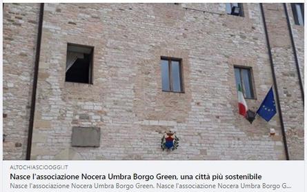 Nasce l'associazione Nocera Umbra Borgo Green, per una città più sostenibile