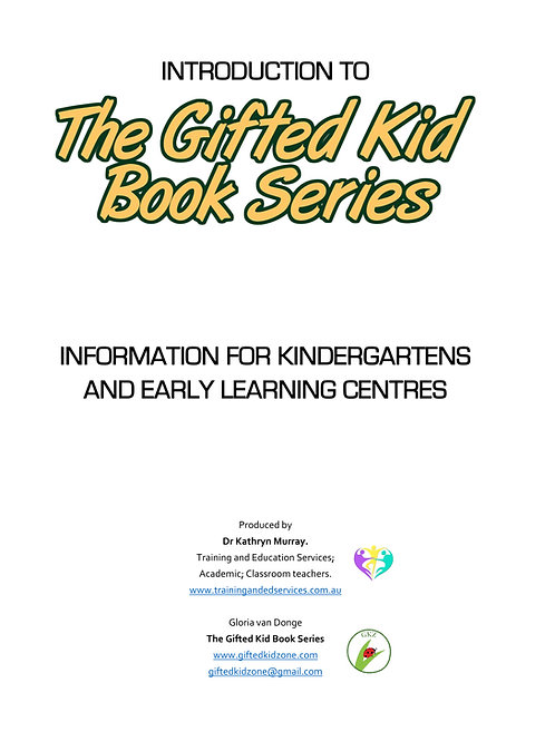 The Gifted Kid Book Series - Early Childhood Alignment