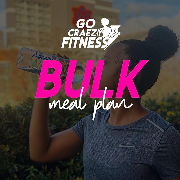 Go cRAEzy Fitness BULK meal plan