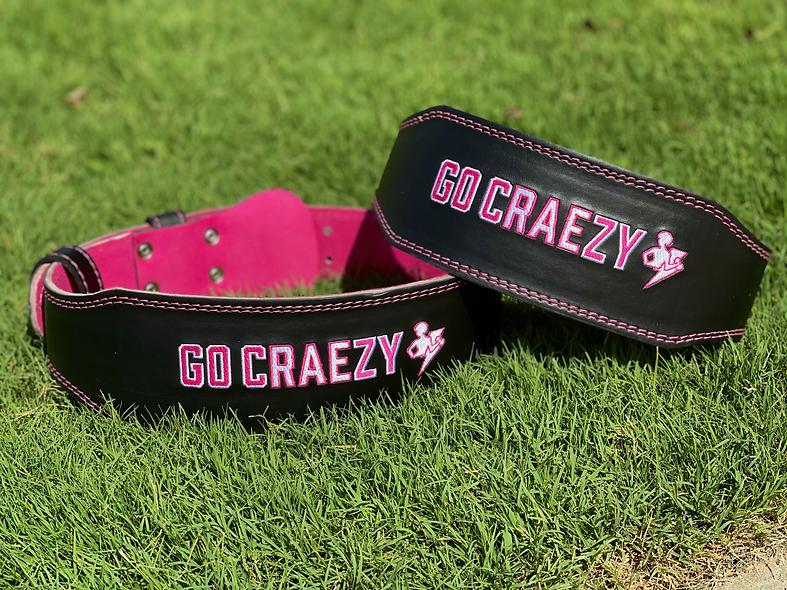 'Go cRAEzy' Weightlifting Belt