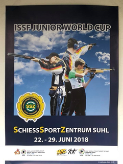 2018 ISSF Junior World Cup poster