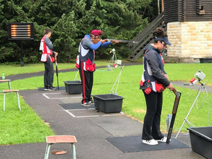 Carter, Angad and Mads at ISSF Junior World Cup, Suhl, Germany