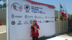 Elizabeth Longley at her first World Cup