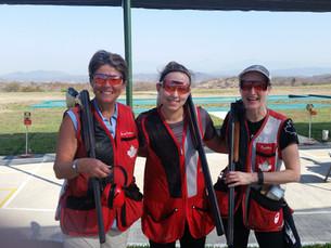 2017 Canadian Women Team World Cup Acapulco. Susan, Elizabeth and Cynthia.