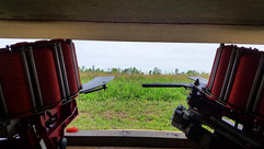 View from inside the bunker, launching a target