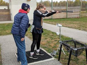 Susan training Elizabeth.