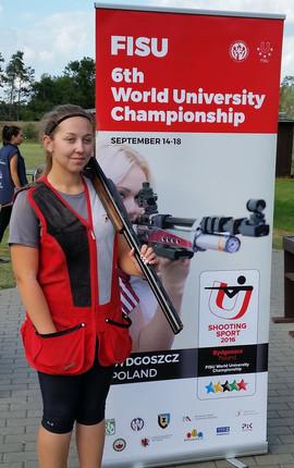 Elizabeth at World University Games, Poland.