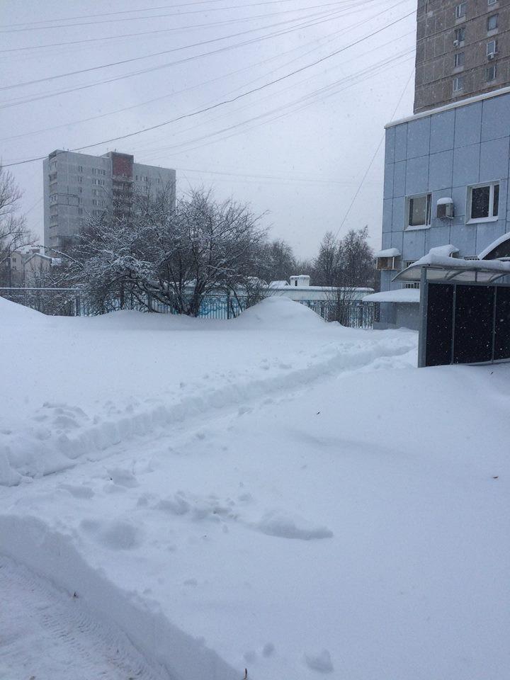 Нарушение уборки снега в Зюзино