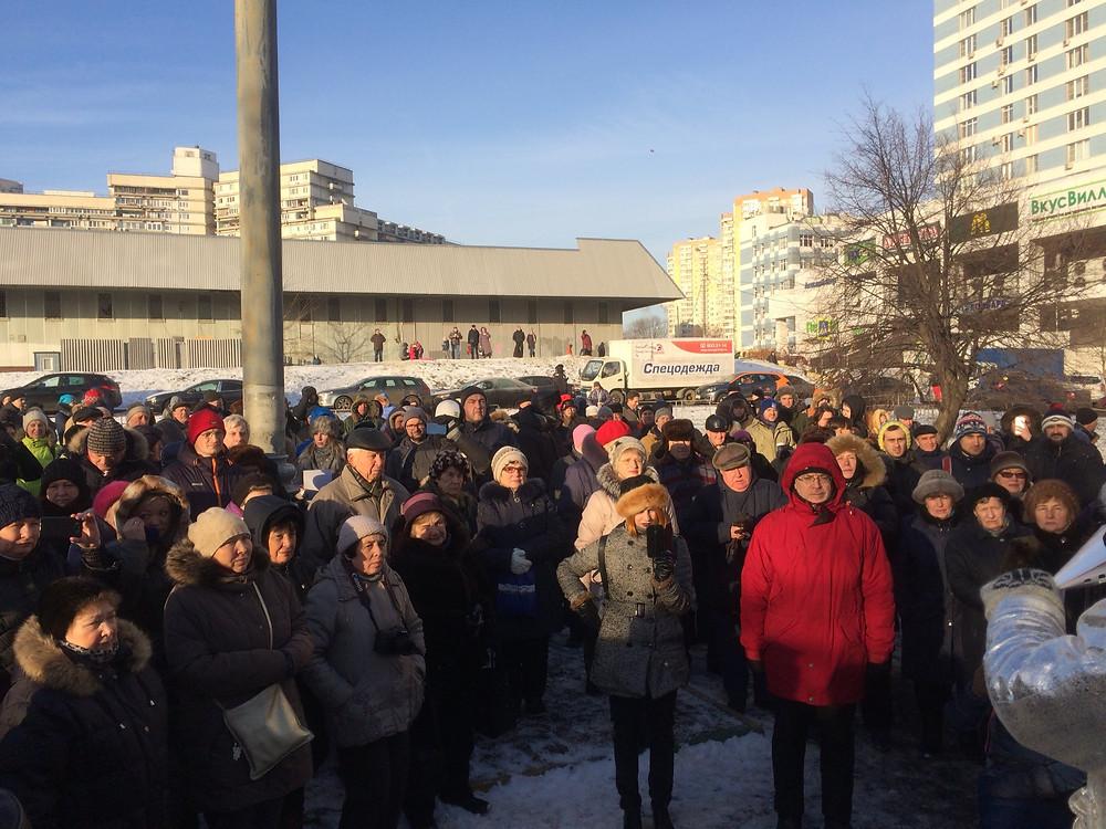 Митинг в Северном Чертаново против точечной застройки у Битцевского леса