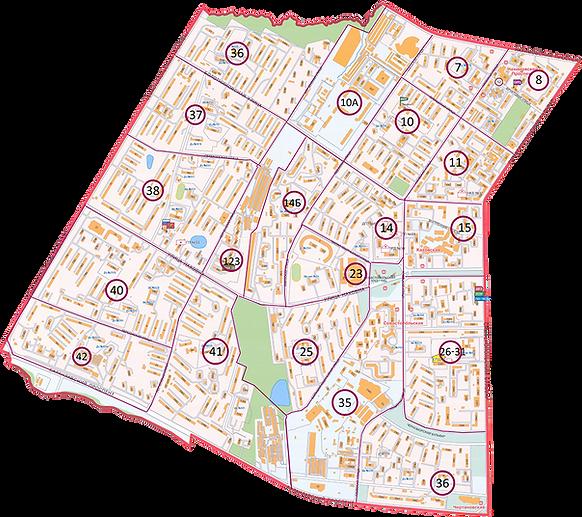 Схема кварталов района Зюзино