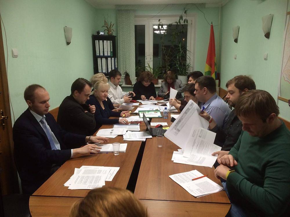 Заседание Совета муниципальных депутатов района Зюзино, ЮЗАО, Москва