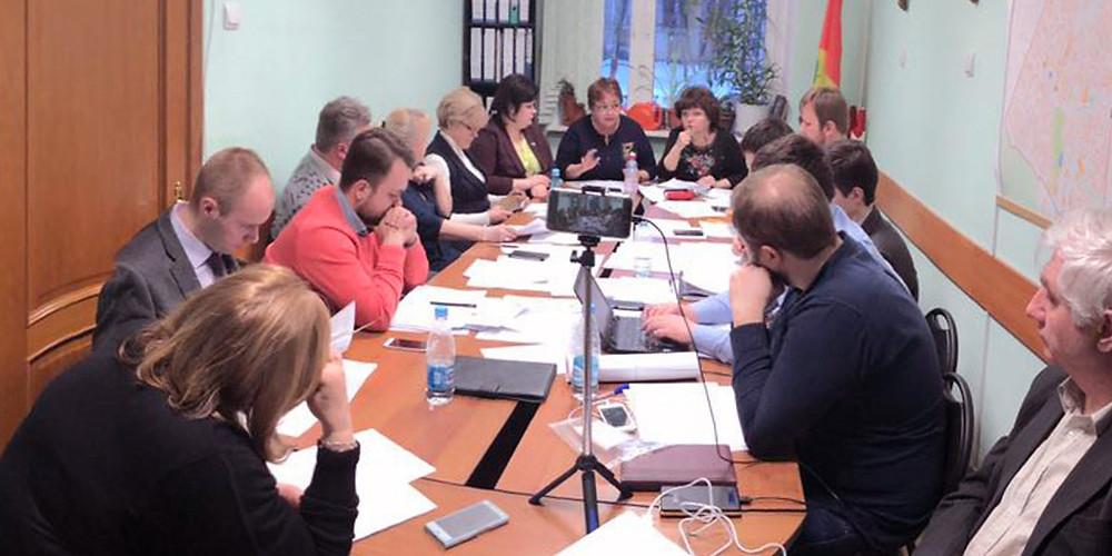 Заседание Совета депутатов муниципального округа Зюзино в Москве. 13 марта 2018 года