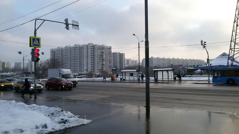 Новый светофор на Балаклавском проспекте