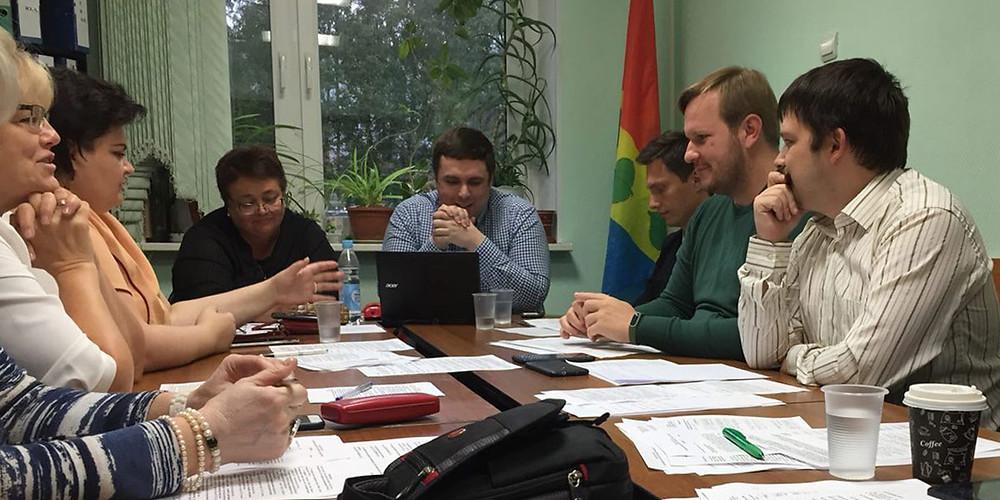 Заседание Совета депутатов района Зюзино в Москве