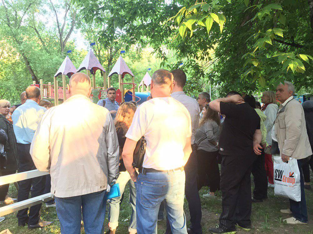 Константин Янкаускас на встрече с жителями