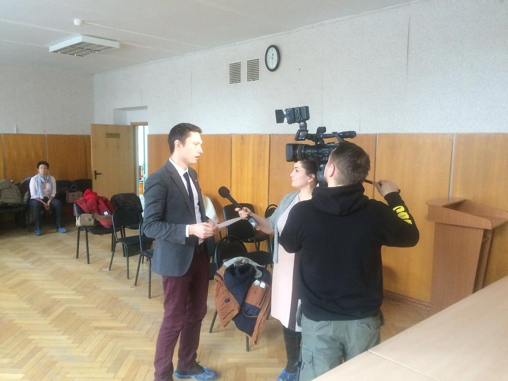 Муниципальный депутат Зюзино Юрий Самгин даёт комментарий Радио Свободы по поводу закрытия роддома №10