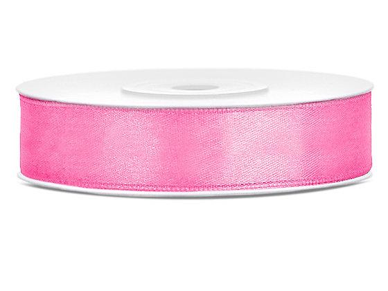 Tasiemka satynowa 12mm 25m kolor różowy