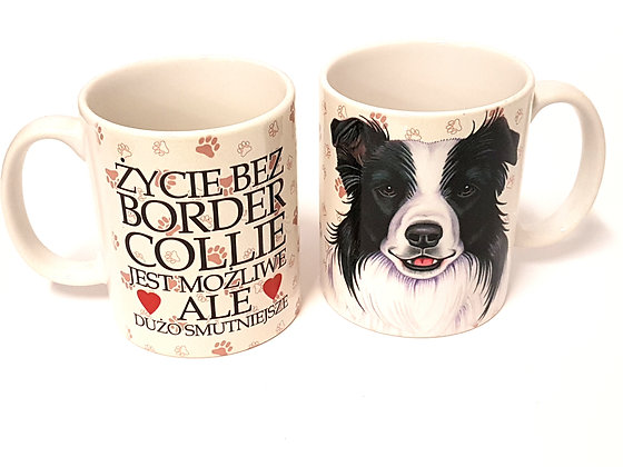"Kubek z Twoim Pupilem ""BORDER COLLIE"""