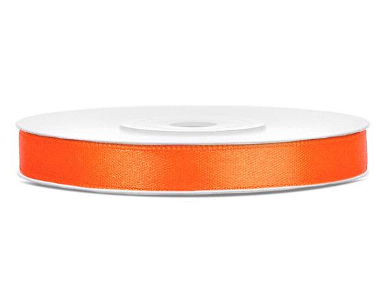 Tasiemka satynowa 6 mm 25m kolor pomarańczowy