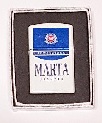 Zapalniczka z imieniem w ozdobnym pudełeczku MARTA