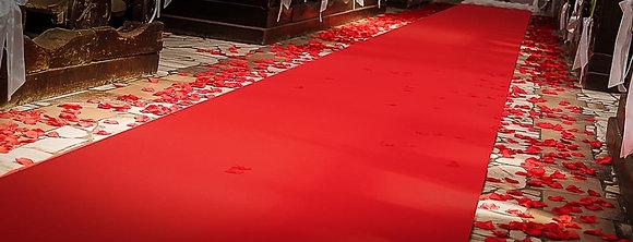 Czerwony dywan dekoratorski gruby