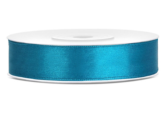 Tasiemka satynowa 12mm 25m kolor turkusowy