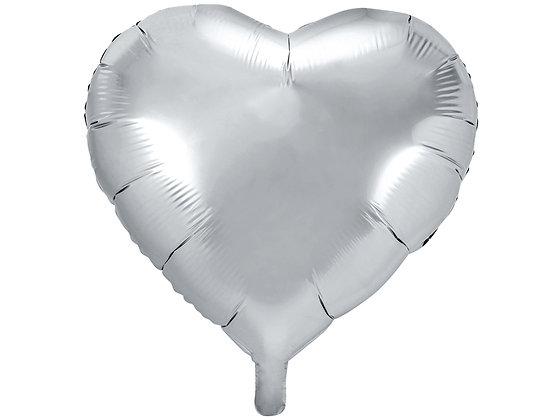 Balon foliowy serce kolor srebrny