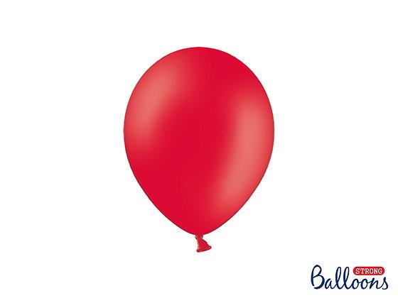 Balony lateksowe pastelowe czerwone 10 sztuk