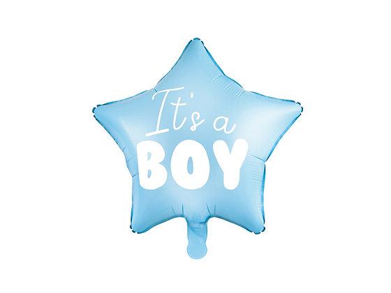 Balon foliowy gwiazdka It's a BOY
