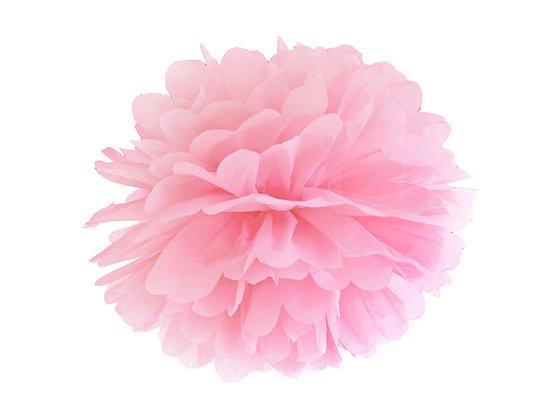 Pompon bibułowy 25cm kolor jasny różowy