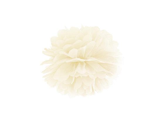 Pompon bibułowy 25cm kolor kremowy