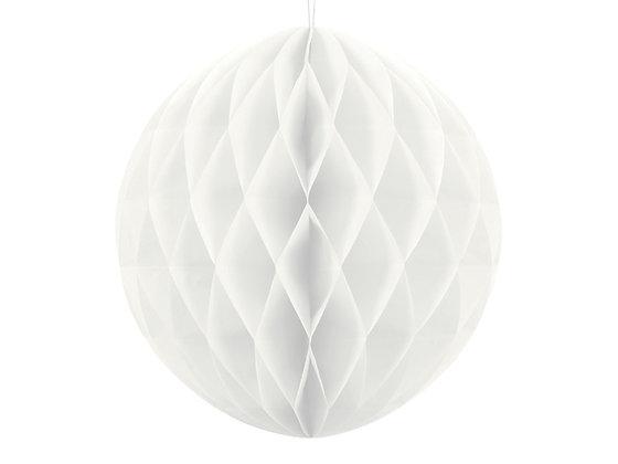 Kula bibułowa 10cm kolor biały