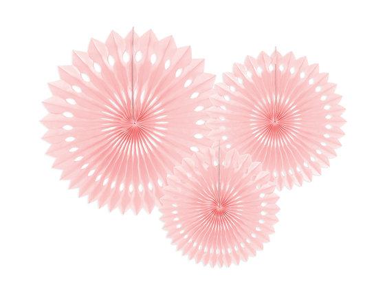 Rozetki dekoracyjne kolor jasny różowy