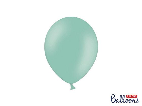 Balony lateksowe pastelowe 100 sztuk miętowe