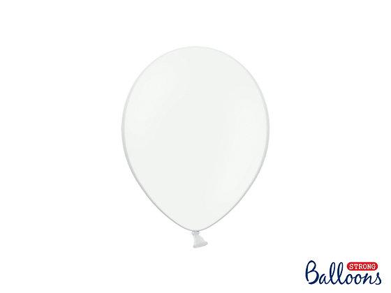 Balony lateksowe pastelowe białe 100 sztuk