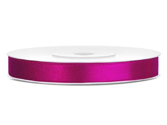 Tasiemka satynowa 6 mm 1m kolor fuksja