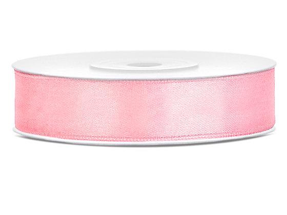 Tasiemka satynowa 12 mm 1m kolor jasnoróżowy