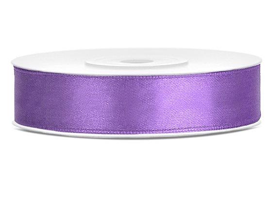 Tasiemka satynowa 12mm 25m kolor liliowy