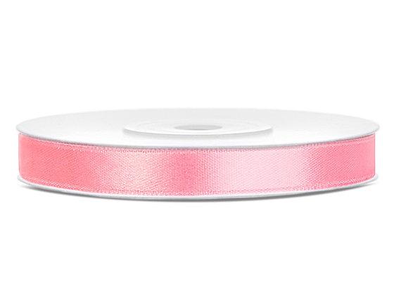 Tasiemka satynowa 6 mm 25m kolor jasnoróżowy