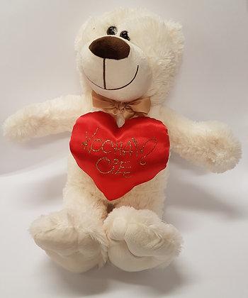 Miś z serduszkiem Kocham Cię na Walentynki