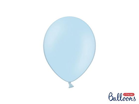 Balony lateksowe pastelowe 100 sztuk błękitne