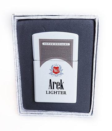 Zapalniczka z imieniem w ozdobnym pudełeczku AREK